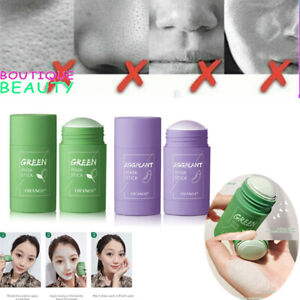 Green Tea Purifying Clay Stick Mask Oil Control Anti-Acne Eggplant Fine Solid