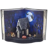 "11.5"" Kurt Adler Ghost Book Diorama Light Up Table Piece Halloween Retro Decor"
