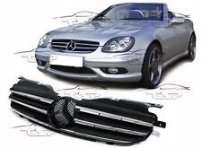 FRONT BLACK-CHROME GRILL FOR MERCEDES SLK R170 96-04 SPOILER BODY KIT NEW