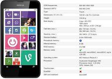 Brand New Nokia Lumia 635 8GB Black Sim Free Unlocked Windows Camera Phone 4G