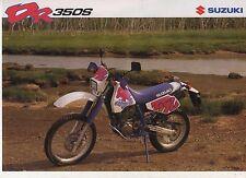 1992 SUZUKI DR350S 2 page Motorcycle Brochure NCS