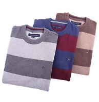 Tommy Hilfiger Men Classic Crew-Neck Stripe Long Sleeve Sweater - Free $0 Ship