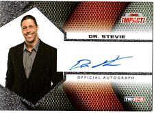TNA Dr. Stevie 2009 Impact SILVER Authentic Autograph Card FD