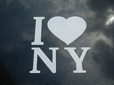 """New York Oracal Vinyl Decal Decal """" I Love NY """" Car/Truck/Suv/Laptop/Walls"""