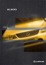 Lexus IS 200 Saloon 1998-99 UK Market Preview Sales Brochure