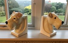 TERRIER DOG PAIR OF BOOKENDS - NEW