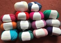 5 x 50g Sublime Worsted Weight Extra Fine Merino Wool for Knitting/Crochet