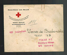 1940s Belgium Red Cross cover to Prisoner of War POW Stalag XB Hamburg Germany