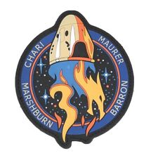 """SpaceX Crew 3 PVC 4"""" Patch NASA Mission ISS Space Dragon Falcon"""