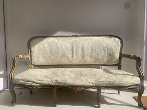 Antique 19th Century Louis XV Salon Sofa
