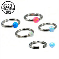 Titanium Opal Captive Ring Nose Ring Cartilage Tragus Helix Earring Lip Piercing