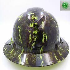 FULL BRIM Hard Hat custom hydro dipped , PROVEIL REAPER Z CAMO LIME  !!WOW!!