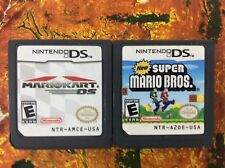 Mario Kart DS + New Super Mario Bros Lot Nintendo DS Authentic Tested