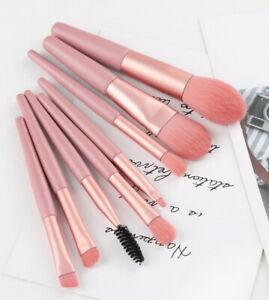 (8 Pcs /Set) Professional Lady Make Up Brushes Blusher Face Powder Eyeshadow UK