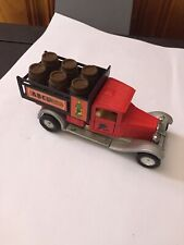VINTAGE RED TOY TRUCK 1928 BUGATTI TYPE 44 ABC WINE PULLBACK ACTION SS-301 Y-24
