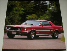 1968 Ford Mustang California Special car print (red & white)