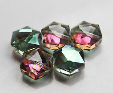 15mm5pcs Faceted Polygon Hexagon Glass Crystal Loose Spacer Beads B088
