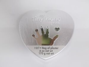 C.R. Gibson Baby Heart Shaped My Tiny Hand Print Kit in a Silver Box - New