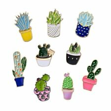 Lapel Women Men Jewelry Party Gift Fashion Diy Cactus Plant Brooches Pins Badge