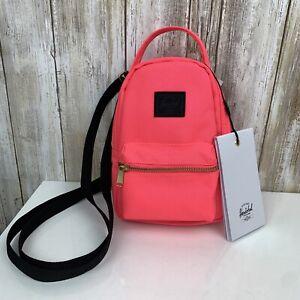 HERSCHEL Supply Co Nova Mini Crossbody Backpack Neon Hot Pink Highlighter NWT