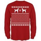 Poodle Ugly Christmas Sweater Red Adult Long Sleeve T-Shirt