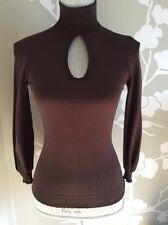 Moschino Brown Sweater 3/4 Sleeves Size Small