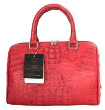 Crocodile Skin Womens Genuine Hornback Leather Clutch Bag Purse W/Strap