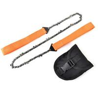 Outdoor Camping Orange Braided Handle Hand Zipper Saw Survival Equipment JF#E