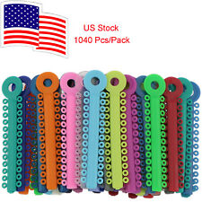 1040 Pcs/Pack Dental Orthodontic Ligature Ties Mixed Color Elastic US Stock