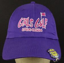 Girls Golf LPGA USGA Ladies Purple Baseball Hat Cap Adjustable Years Clip