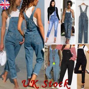 Womens Denim Jeans Full Length Celeb Denim Jumpsuit Overall Dungaree Trouser