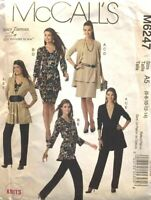 McCalls M6247 Misses Jacket Top Sash Skirt Pants 6-14 Sewing Pattern Uncut