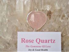 Rose Quartz-Heart Gem Quality Pendant-Beautiful Love Energy!