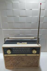 Vintage Portable Transistor Radio Perdio LW/MW/FM with Carry Handle Leather Case