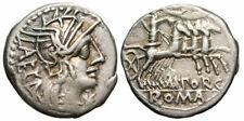 Roman Republic M. Porcius Laeca AR Denarius (125 BC), Porcia 3