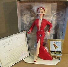 Marilyn Monroe Barbie Doll Gentlemen Prefer Blondes Red Gown Hollywood Legends
