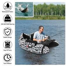 350lbs Inflatable Boat Hunting Fishing Raft for Adults on Lakes Rivers More