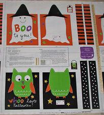 Huggable Loveable Boo I Love You! Halloween Treat BAG Panel Fabric 1 Yard #3370P