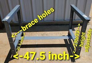 Steel metal base legs Adjustable for Workbench industrial work bench table shop