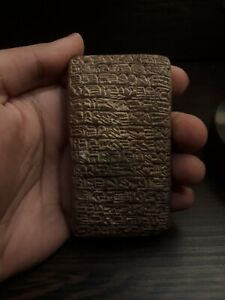 RARE NEAR EASTERN SUMERIAN TERRACOTTA TABLET WITH EARLY FORM OF WRITING