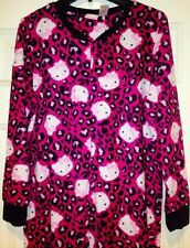 Sanrio Hello Kitty Leopard Footed Pajamas Footie 1 PC Pink S M L or XL LAST ONES
