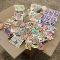 LOT THOUSANDS OF OFF PAPER STAMPS FROM OVER 100 DIFFERENT COUNTRIES