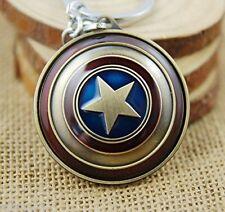 Hero The Avengers Movie Captain America Shield Metal Keychain Key Chain