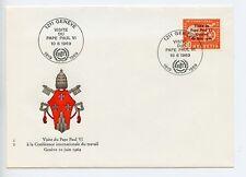 Suiza 1969 Cubierta Conmemorativa Visita Del Papa Pablo VI (N603)