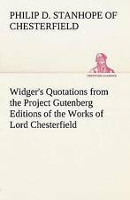 Widger's Quotations from the Project Gutenberg Editions of the Works of Lord...