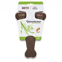 Benebone PEANUT BUTTER LARGE Flavored Wishbone Dog Chew Long Lasting USA MADE