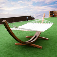 "161"" Wooden Curved Arc Hammock Stand W/ Hammocksize Outdoor Patio Garden Swing"