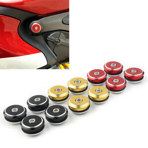 Motor Frame Plugs Adorn Cover Fit Ducati 1199(S),1299(S),899,959,Panigale hs
