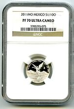 2011 MEXICO 1/10 OZ ONZA SILVER PROOF LIBERTAD NGC PF70 UCAM EXTREMELY RARE