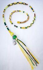 hair wrap, braid, pineapple, yellow,Tibetan silver, 31/35cm, clip, plait in